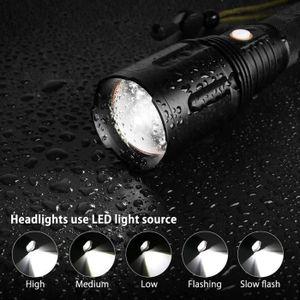 LAMPE DE POCHE LAMPE ELECTRIQUE USB Rechargeable P70 LED Zoom Foc
