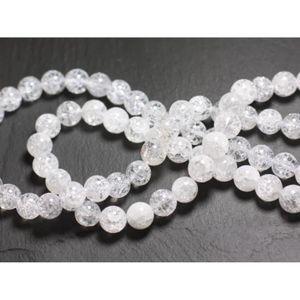 30pc Cristal de Roche Quartz Boules 2mm   4558550010612 Perles de Pierre