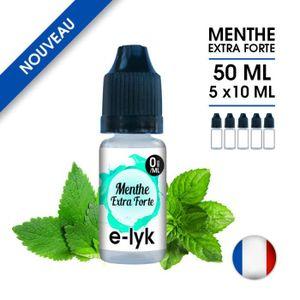 LIQUIDE E-liquide saveur Menthe Extra Forte 50 ml en 0 mg