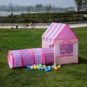 MAISONNETTE EXTÉRIEURE jardin jouer tente tunnel ball pit bébé bébé rampe