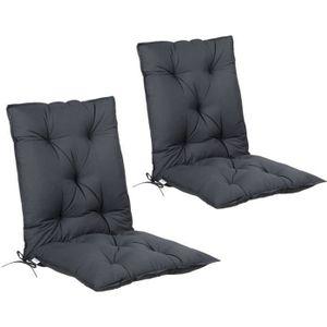 Coussins pour chaise à dossier haut avec coussin de tête en marron fauteuil chaise jardin Coussin