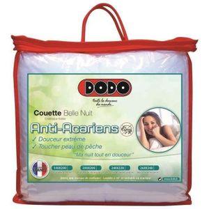 COUETTE DODO Couette tempérée 350gr/m² BELLE NUIT 220x240c