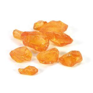 OBJET DÉCORATIF CDaffaires pierres de verre 650gr orange-taille bo