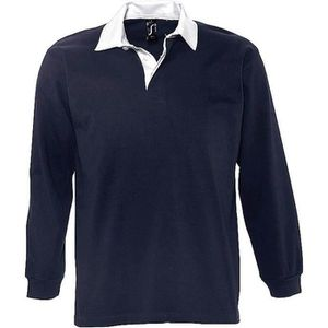 POLO Polo rugby manches longues HOMME - 11313 - bleu ma