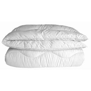 COUETTE Couette chaude anti-acariens 220x240cm blanc