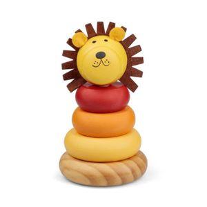 BOÎTE À FORME - GIGOGNE Anneaux à empiler - Lion Multicolore