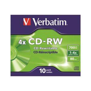 CD - DVD VIERGE Verbatim DataLifePlus 10 x CD-RW 700 Mo (80 min) 4