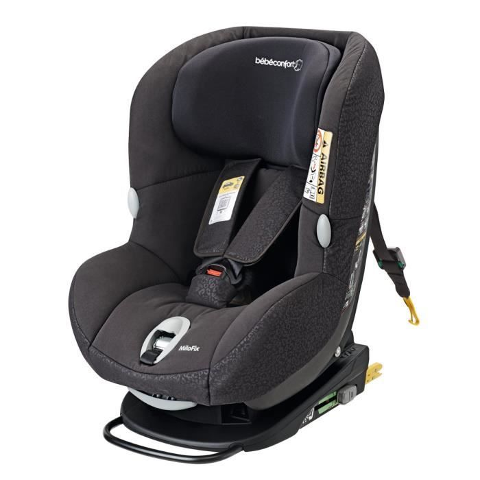 bebe confort si ge auto isofix bbc milofix moderblack gr 0 1 achat vente si ge auto. Black Bedroom Furniture Sets. Home Design Ideas