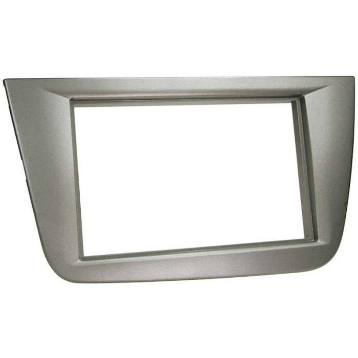 Adaptateur de façade 2-DIN Seat Altea / Altea XL / Toledo anthracite