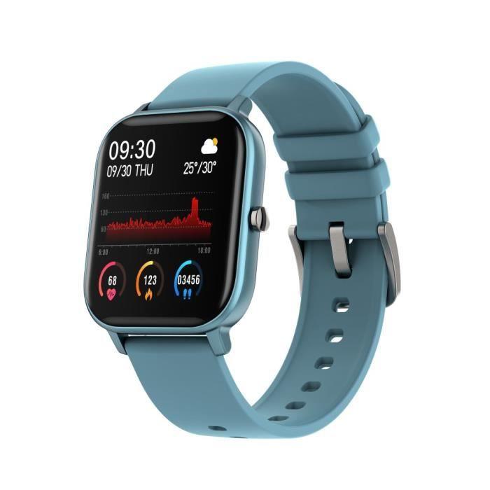 Amorus Montre Connectée P8 Bleu Femmes Hommes, Sommeil Surveillance la Santé Fitness Tracker Pression Artérielle Fréquence Cardiaque