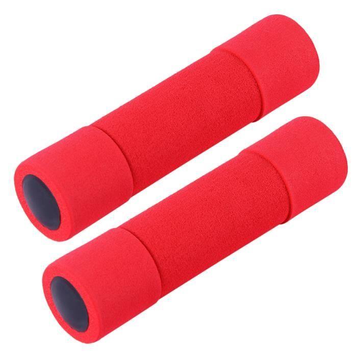 2 PCS mousse haltère exercice fournitures équipement de sport poids fitness accessoires pour femmes femelle rouge (chaque 0,5 kg)