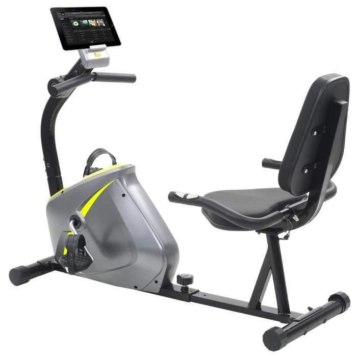 YULINSHOP Vélo semi-allongé d'exercice 5 kg Masse rotative