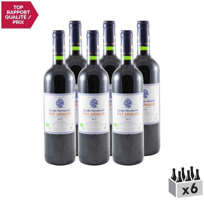 Clos Puy Arnaud Rouge 2013 - Lot de 6x75cl - Appellation AOC Côtes de Bordeaux Castillon - Vin Rouge de Bordeaux - Cépages Cabernet