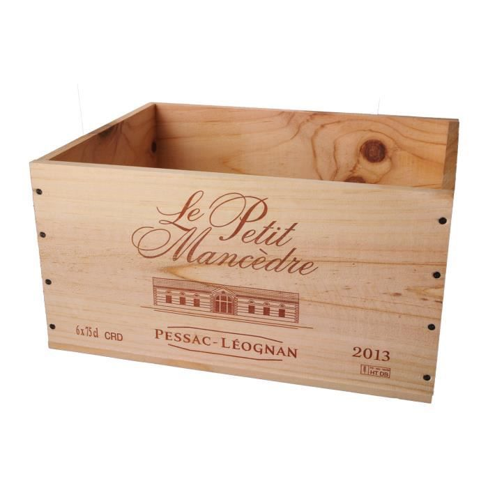 La Caisse Bois 6x75cl estampillé Le Petit Mancèdre - coffret