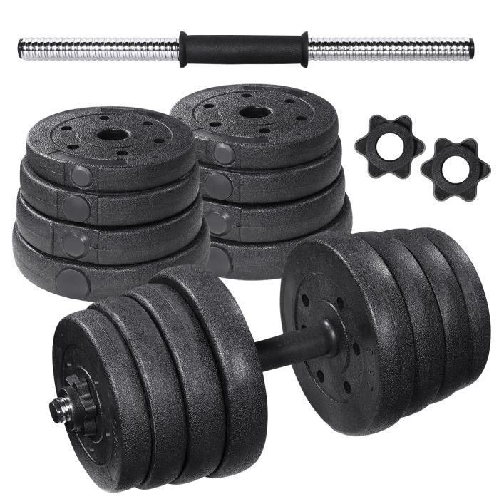 HALTÈRE POIDS 2en1 haltères 30kg musculation réglables – poids musculation