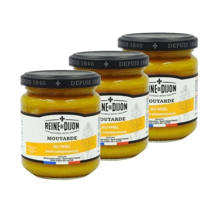 Lot 3x Moutarde au miel - pot 220g