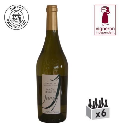 AOC Côtes du Jura - Savagnin Ouillé - 2016 - Caisse de 6 bouteilles