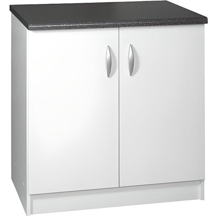 Meuble cuisine bas 80 cm 2 portes OXANE cappuccino