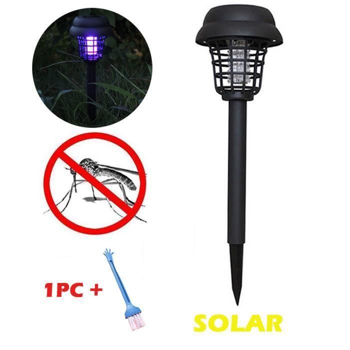 Jardin de lampe de tueur d'insectes de Zapper d'insecte d'insecte d'insecte de moustique de lumière LED actionné solaire - 373