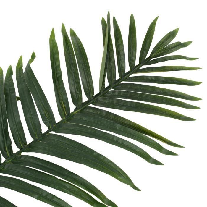 Haute qualité Lot de 2 Feuilles artificielles Fleur Artificielle Plante artificielle de palmier Vert 160 cm *925032