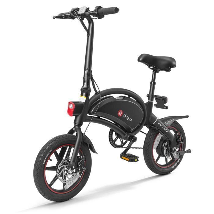 PHL Vélo électrique Cyclomoteur pliant à assistance électrique de 14 pouces, portée maximale de 65 à 70 km
