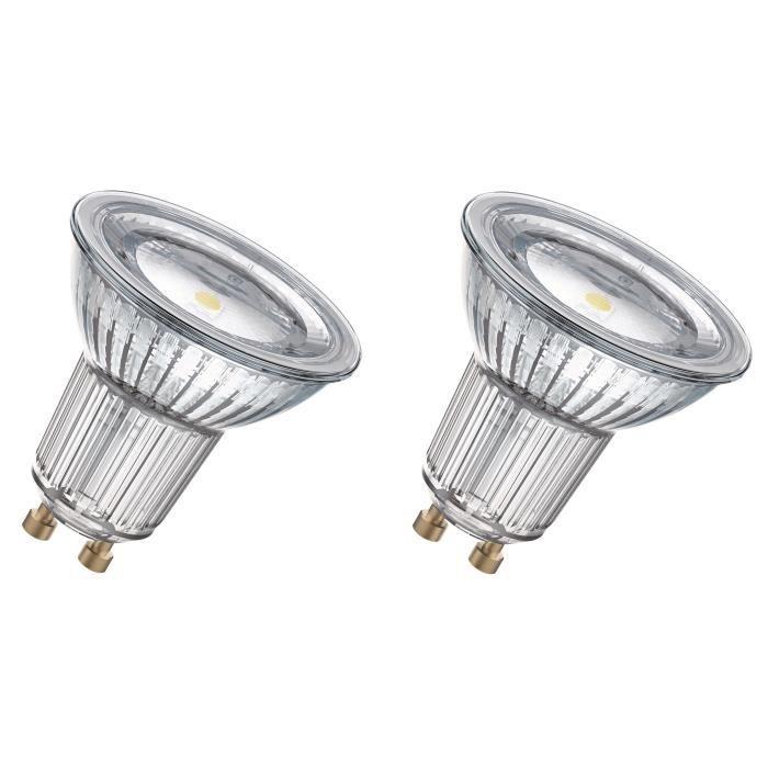 OSRAM Lot de 2 Ampoules spot LED PAR16 GU10 6,9 W équivalent à 80 W blanc chaud