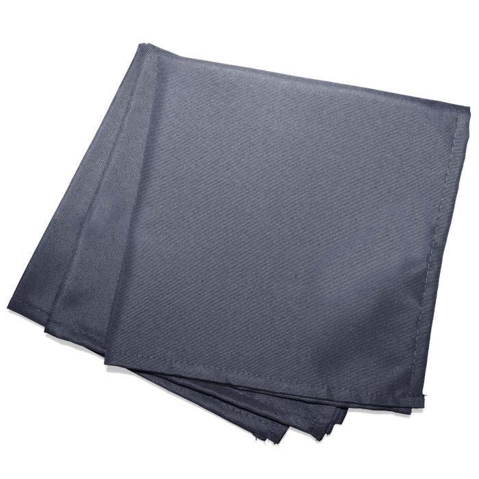 CDaffaires Serviettes de table -3 40 x 40 cm polyester uni essentiel Beton