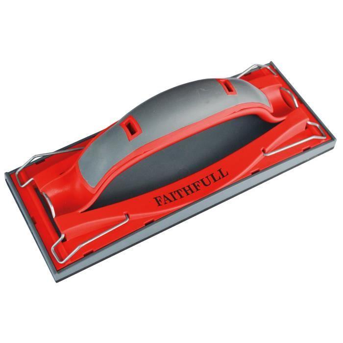 Faithfull cloison sèche rapide Hand Grip Sander 223 x 85 mm (8.3 / 4 x 3,1 / 3 pouces) FAIDWHAND