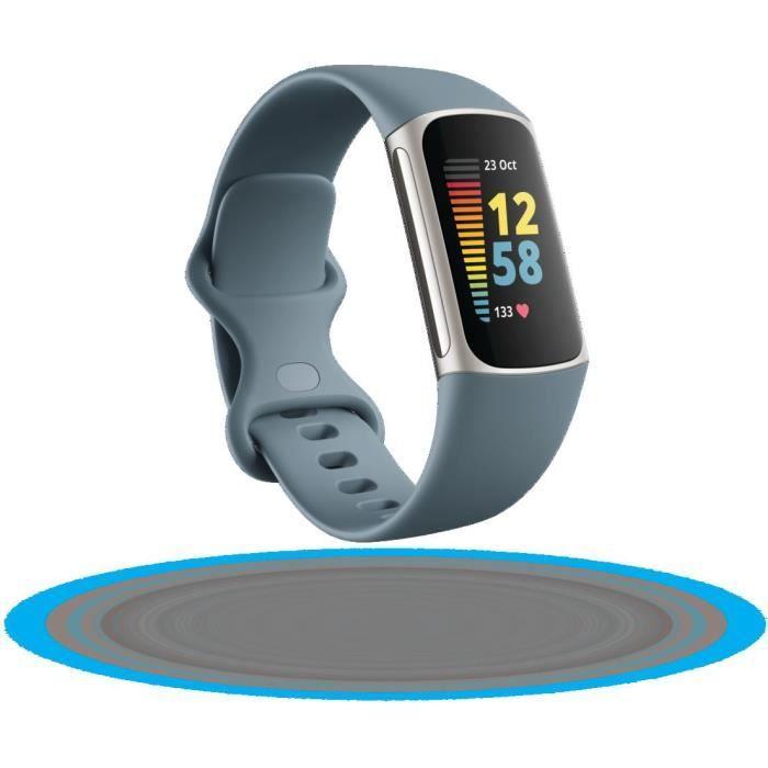 FITBIT Charge 5 - Bracelet d'activité - 6 mois d'abonnement à Premium - Bleu acier/platine