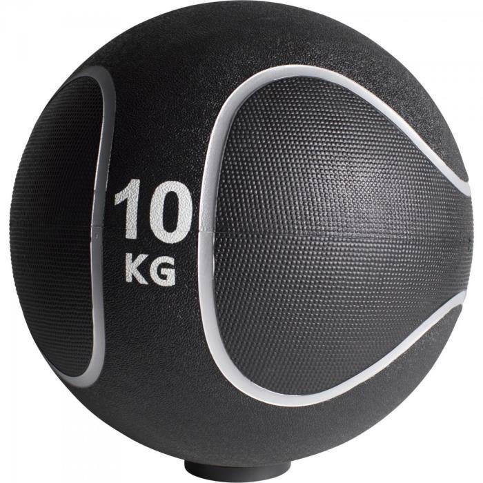 Gorilla Sports - Médecine ball style noir-gris de 1kg à 10kg - 10 KG
