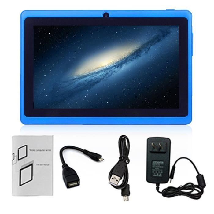 Tablette PC 512 Mo + 4 Go 7 pouces Android caméra 2,0MP bleu