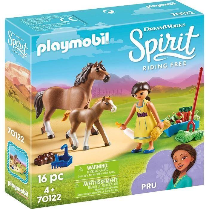 PLAYMOBIL 70122 - Spirit - Apo avec cheval et poulain