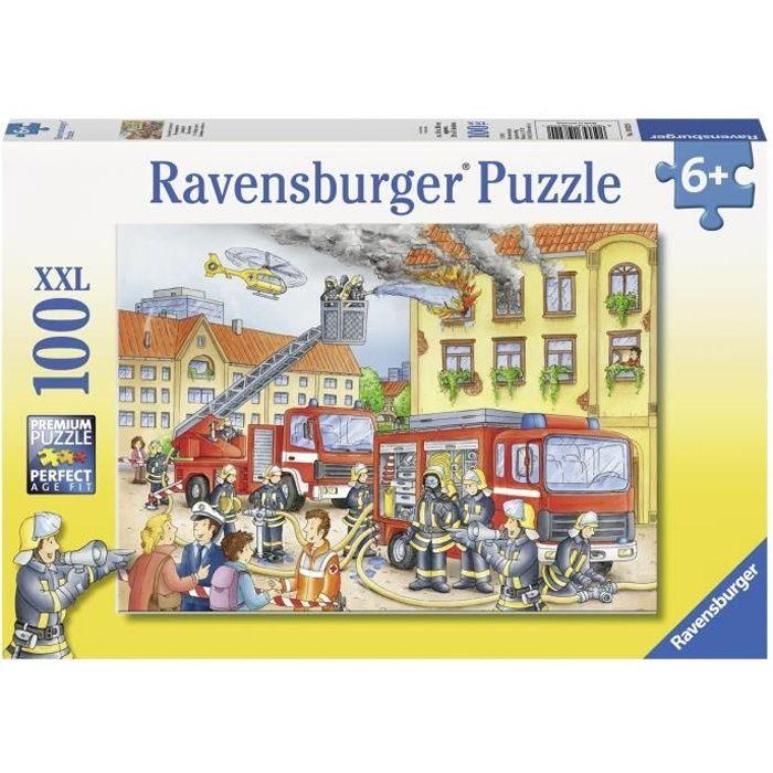 Puzzle 100 pièces XXL - Nos pompiers - Ravensburger - Puzzle Enfant - Dès 6 ans