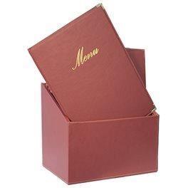 20 protège menus A4 rouge + boîte