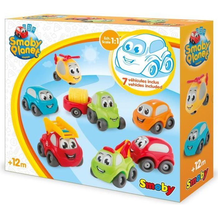 VROOM PLANET Coffret 7 Collector - SMOBY