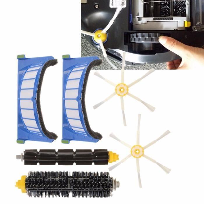 Rechange kit Filtre Brosse 6 Bras Pour iRobot Roomba 600 Series 620 630 650 660