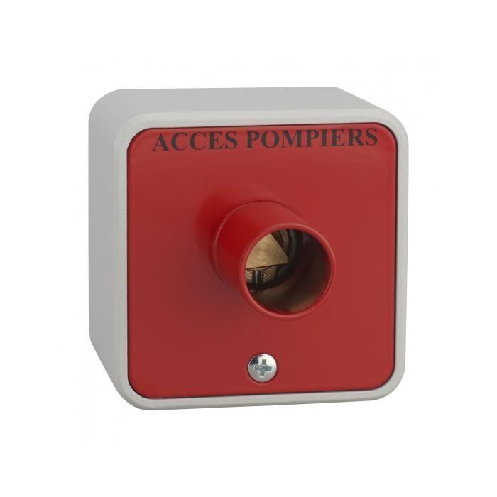 Thirard - Contacteur à clé pompier en applique triangle 14mm