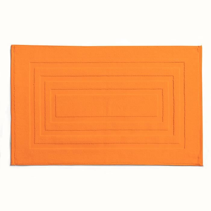 Tapis de bain HAMMAM 50 x 85 cm Mandarine