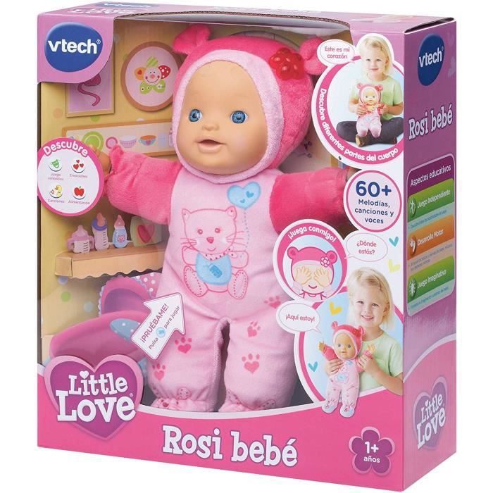VTech – Little Love Rita aprende a Parler, poupée Interactive Little Love - Rosi 19.3 x 15.5 x 9.1 347