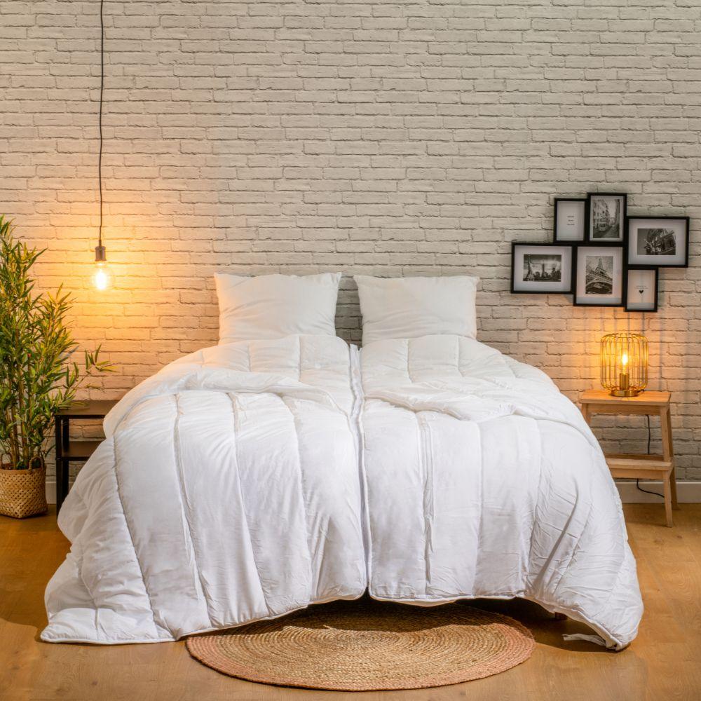 BLEU CALIN Couette pour Deux 220x240cm