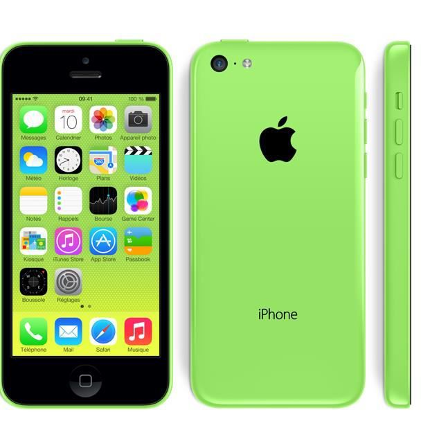 iphone 5c vert 16go occasion comme neuf achat smartphone. Black Bedroom Furniture Sets. Home Design Ideas