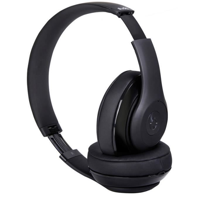 noir casque headphones beats studio 2 0 sans fil bluetooth st r o casque couteur audio. Black Bedroom Furniture Sets. Home Design Ideas