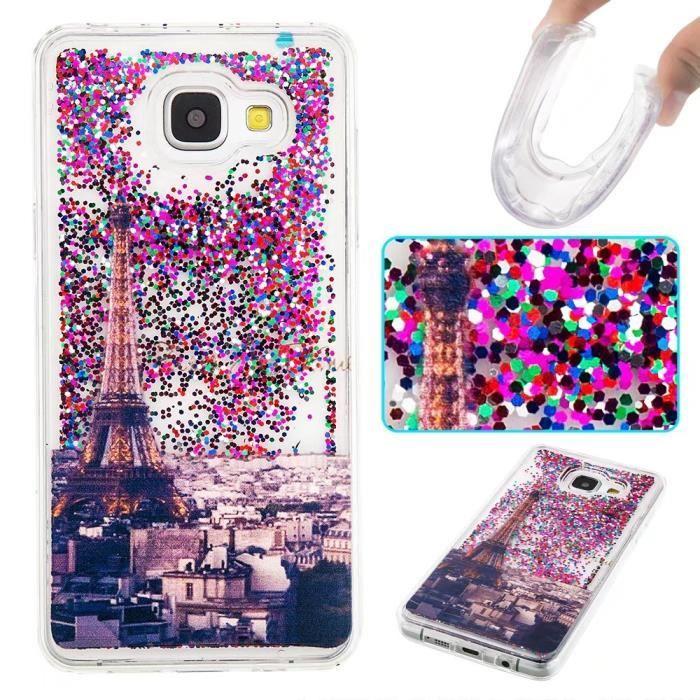 Coque Samsung Galaxy A5 (2017 Version).Paillettes d'violet J'aime ...