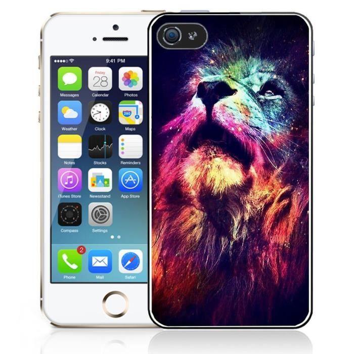 Coque iPhone 4-4S Lion Galaxie