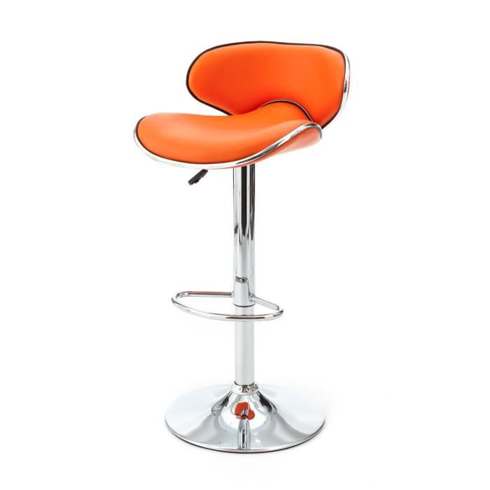 tabouret de bar orange vince achat vente tabouret de. Black Bedroom Furniture Sets. Home Design Ideas