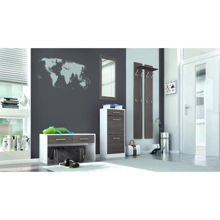 ensemble de meubles d 39 entr e blanc weng 170 cm achat vente meuble d 39 entr e ensemble de. Black Bedroom Furniture Sets. Home Design Ideas