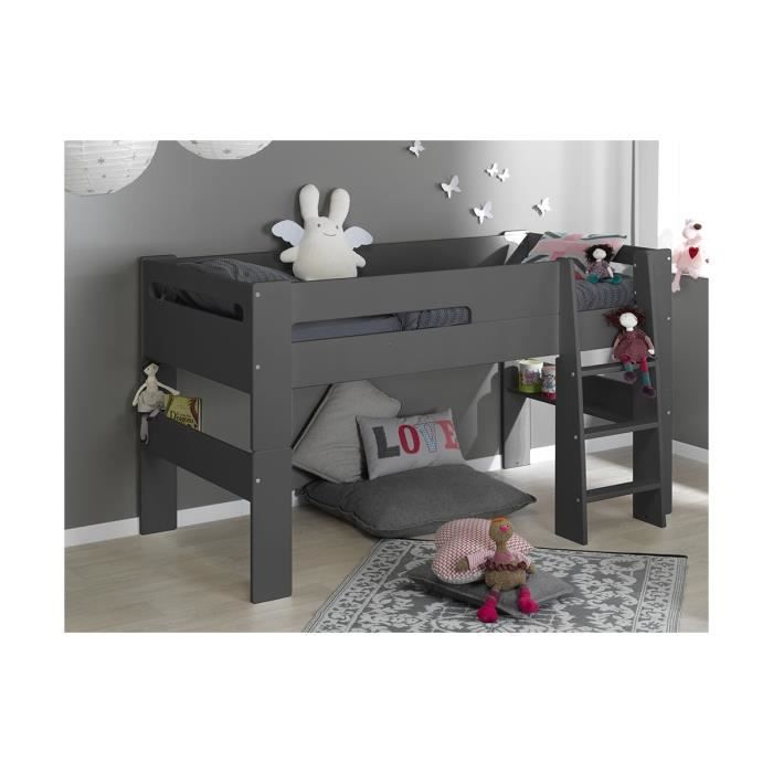 lit mi hauteur enfant london 90 190 achat vente lit. Black Bedroom Furniture Sets. Home Design Ideas