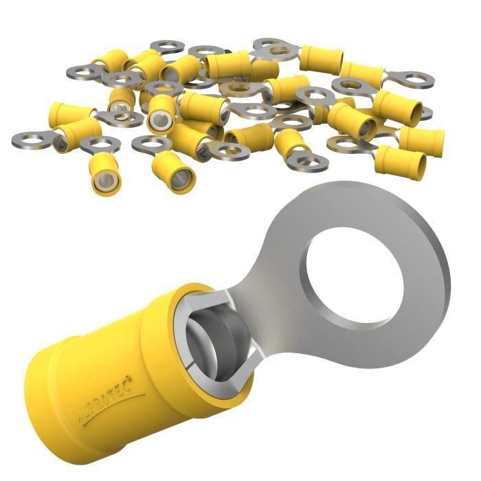 100 pièces terminaisons 1,0mm² jaune