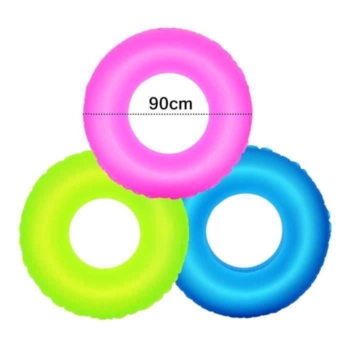 BOUÉE - BRASSARD Gonflable piscine anneau flotteur eau jouets fluor