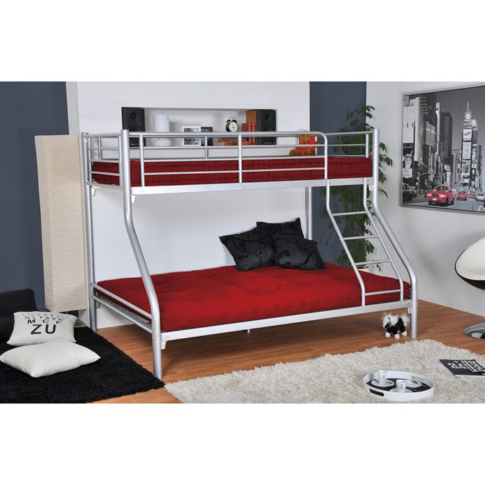 lit superpos enfant bibop achat vente lits superposes lit superpos bibop rouge cdiscount. Black Bedroom Furniture Sets. Home Design Ideas